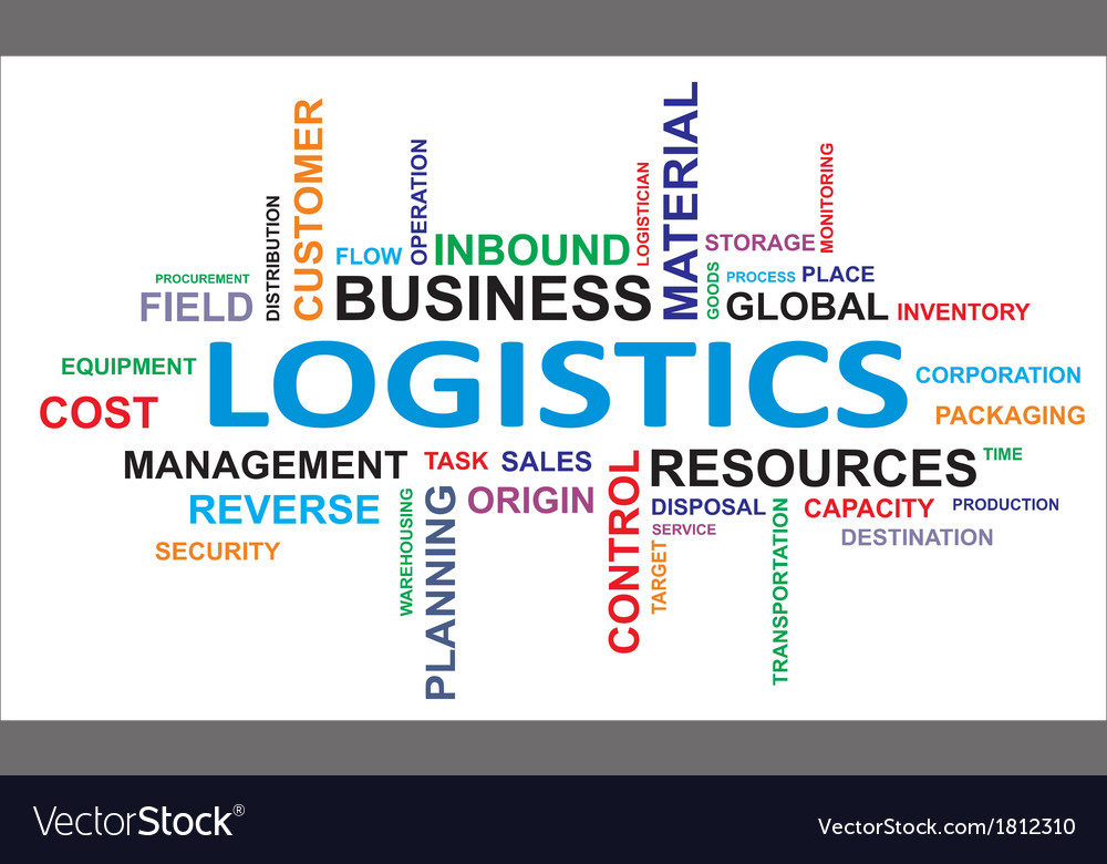Word cloud logistics vector | Price: 1 Credit (USD $1)