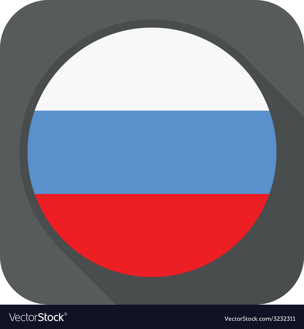 - russia flag button round shape with long s vector | Price: 1 Credit (USD $1)