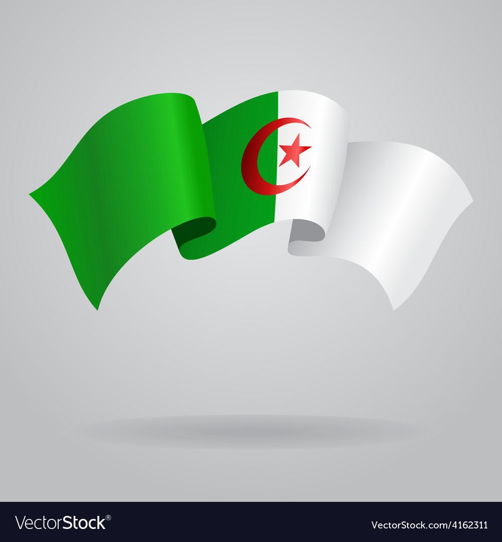 Algerian waving flag vector | Price: 3 Credit (USD $3)