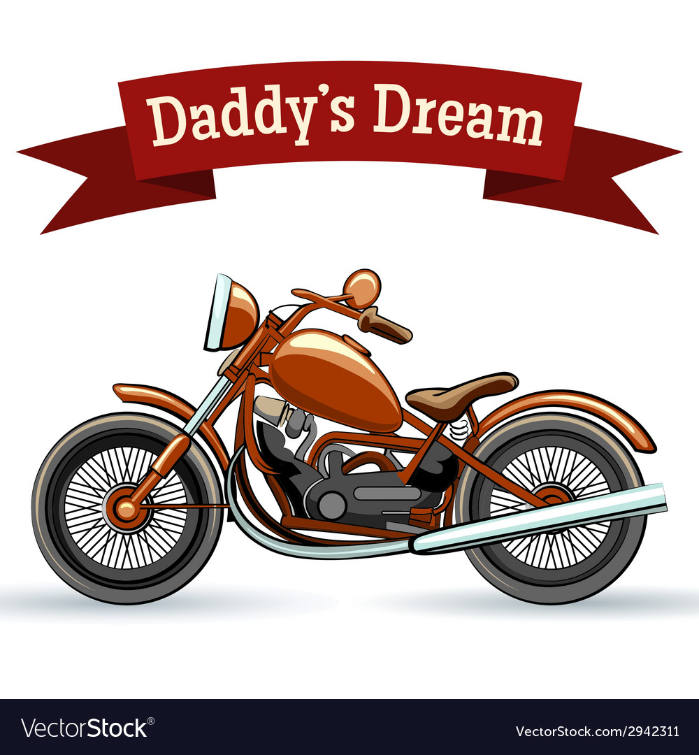 Colored retro motorcycle design vector | Price: 1 Credit (USD $1)