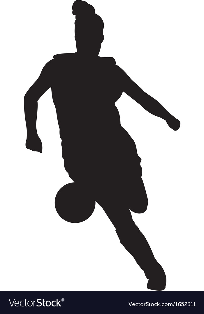Girl soccer player vector | Price: 1 Credit (USD $1)