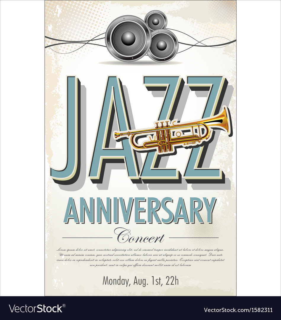 Jazz concert poster vector | Price: 1 Credit (USD $1)