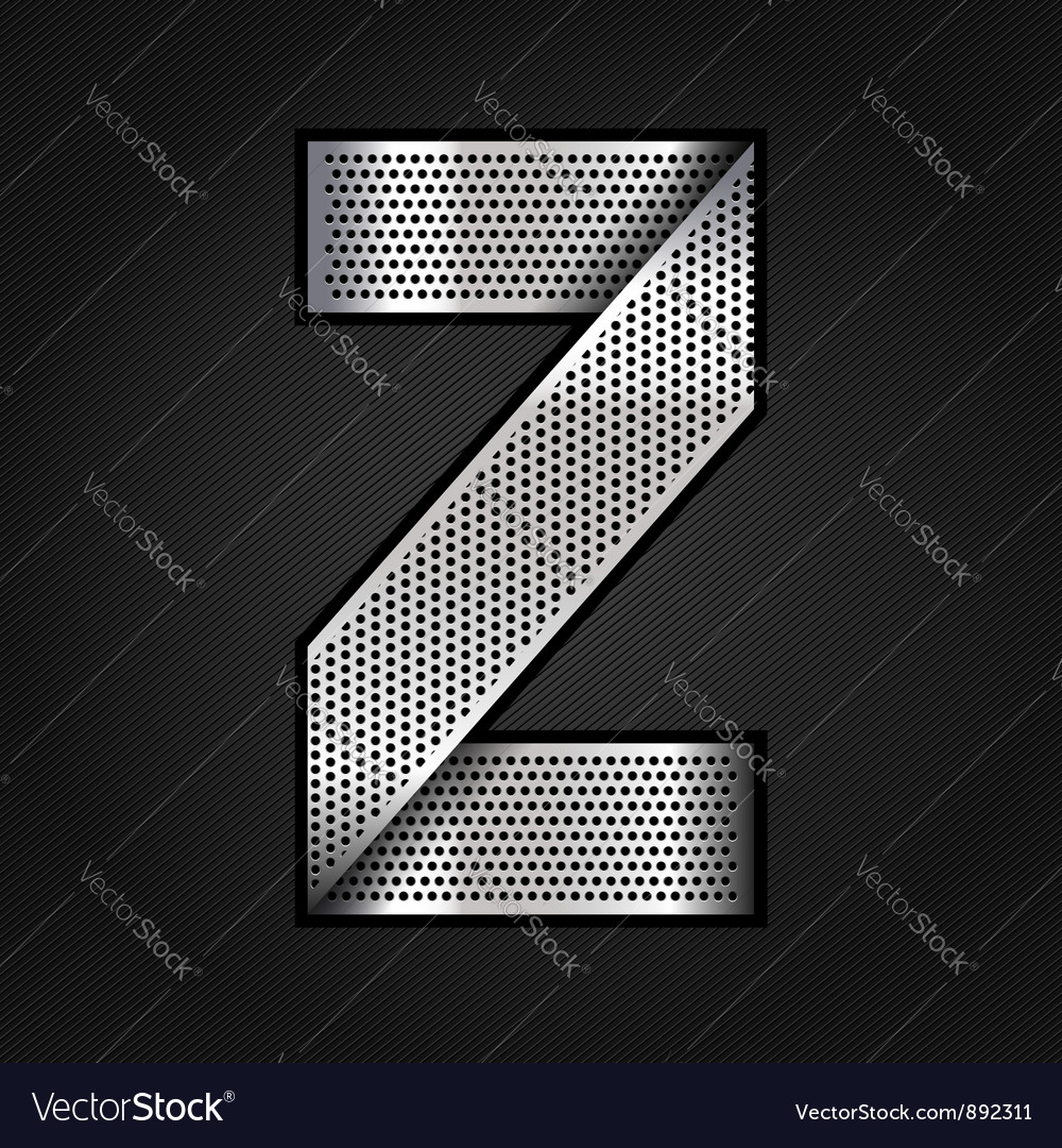 Letter metal chrome ribbon - z vector | Price: 1 Credit (USD $1)