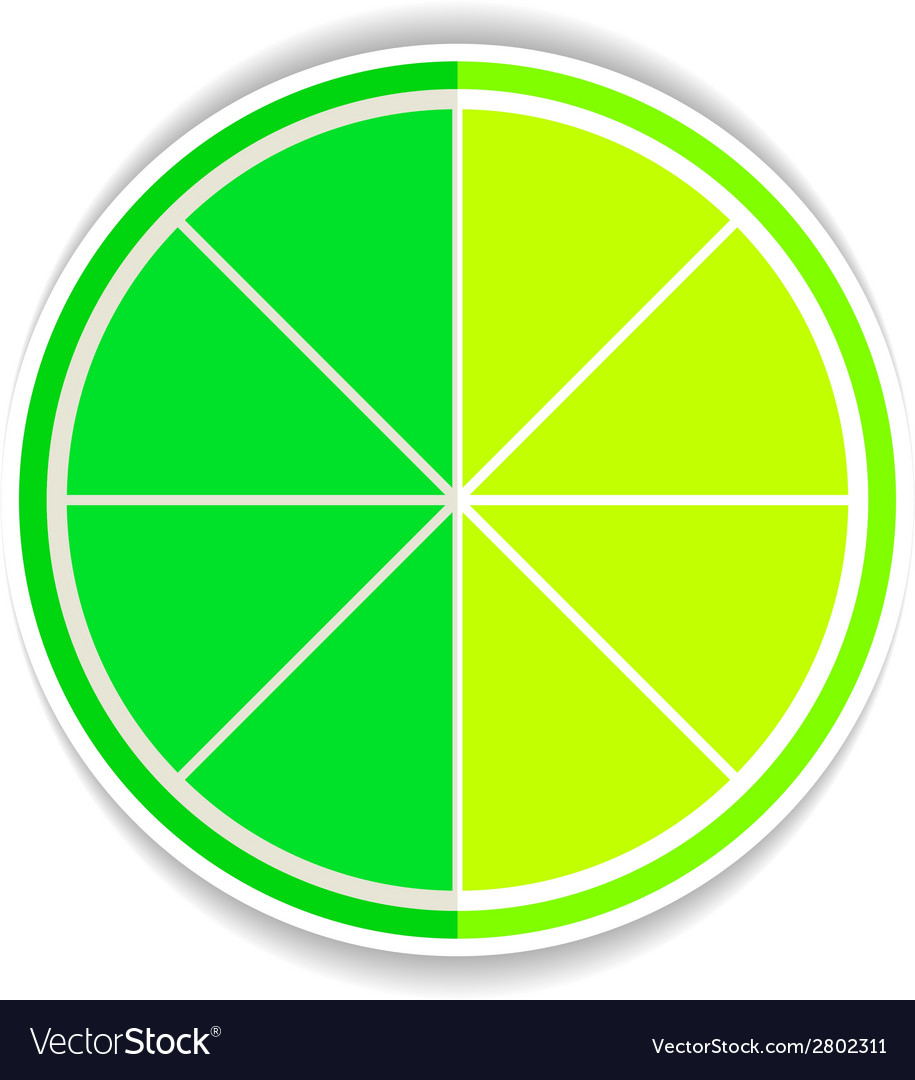 Lime fruit yellow ripe flat icon vector   Price: 1 Credit (USD $1)