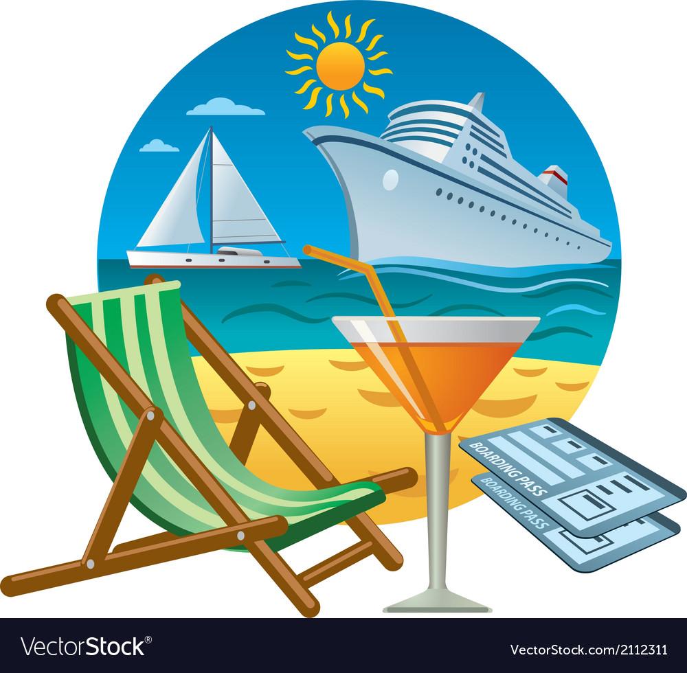 Sea travel concept vector | Price: 3 Credit (USD $3)