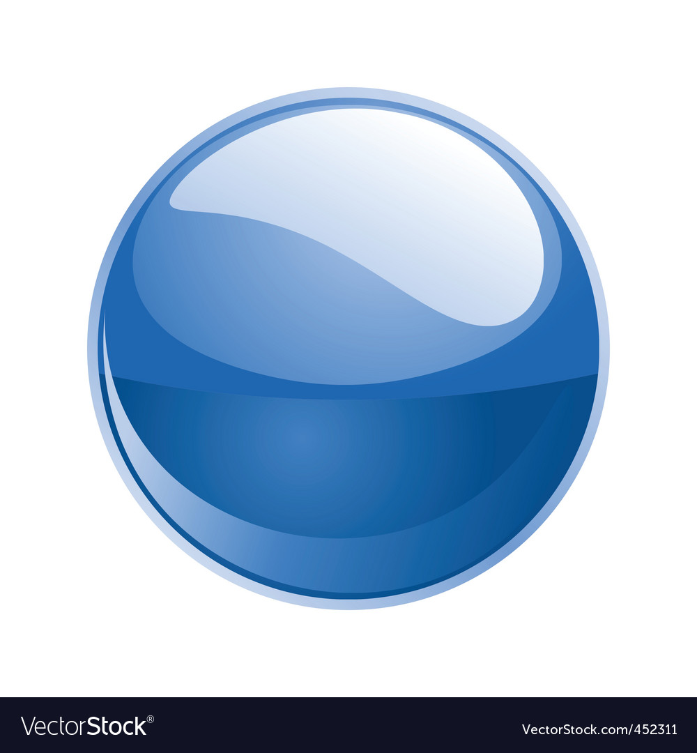 Shiny sphere 02 blue vector | Price: 1 Credit (USD $1)