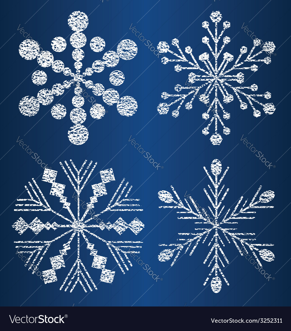 Textured snowflakes 2 vector | Price: 1 Credit (USD $1)