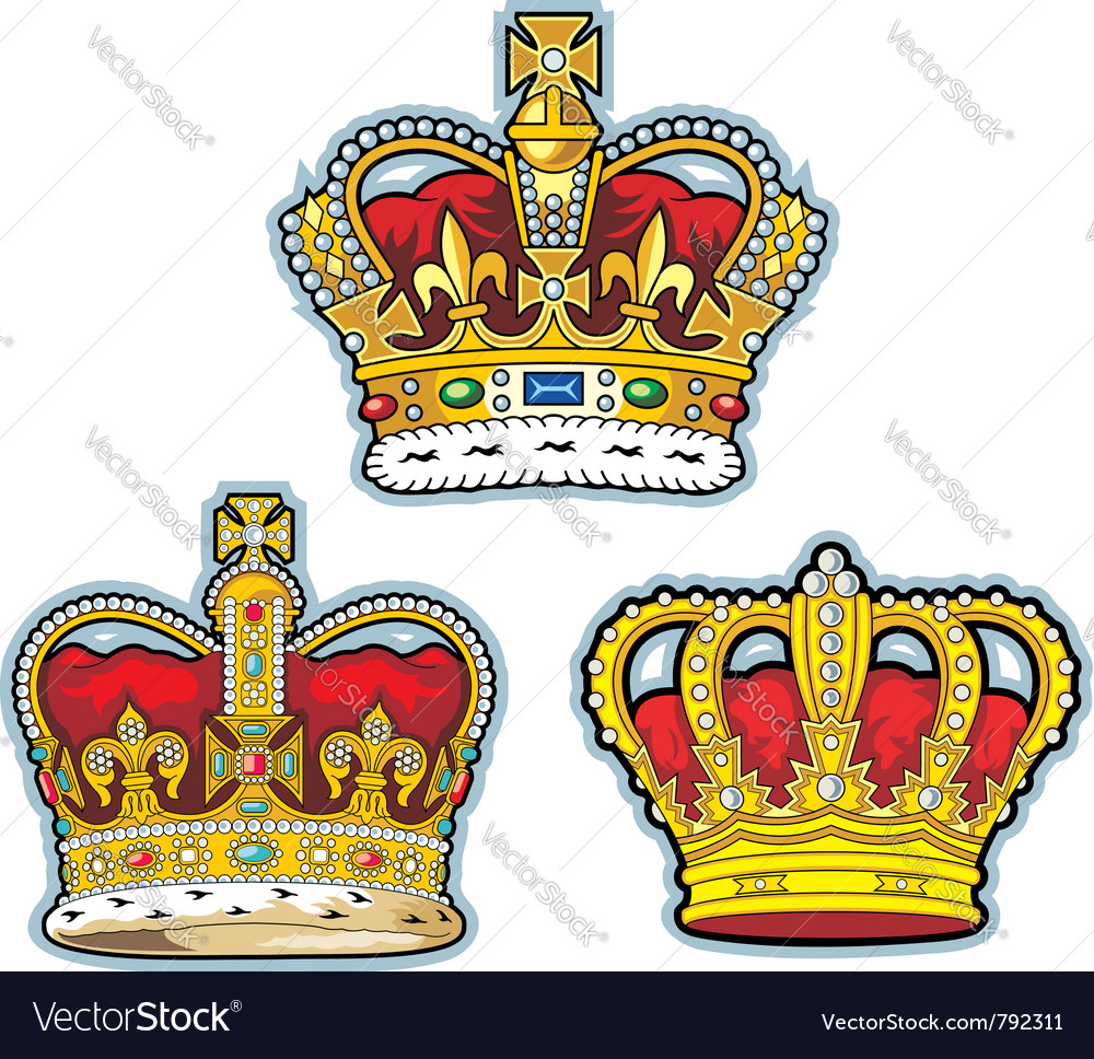 Three british crown vector | Price: 3 Credit (USD $3)