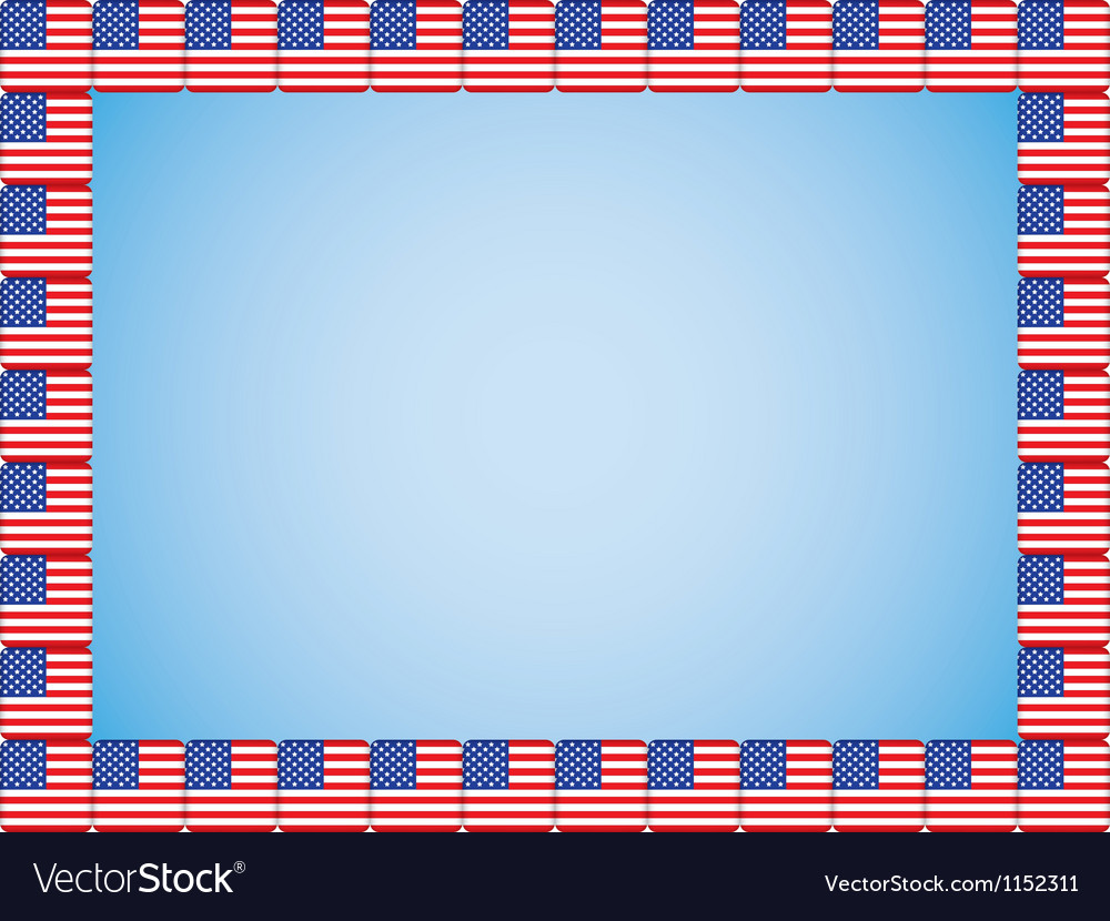 United states flag icons border vector | Price: 1 Credit (USD $1)