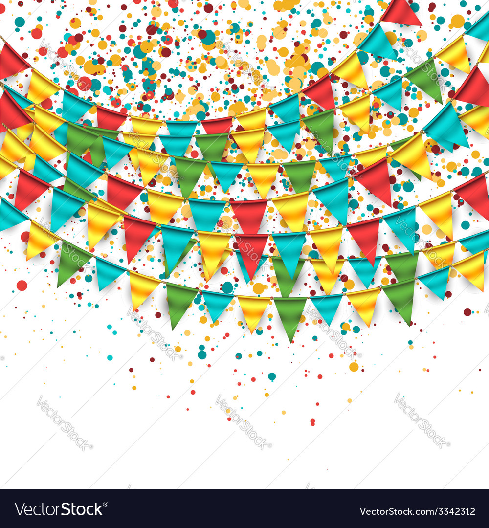 Birthday background with buntings vector | Price: 1 Credit (USD $1)