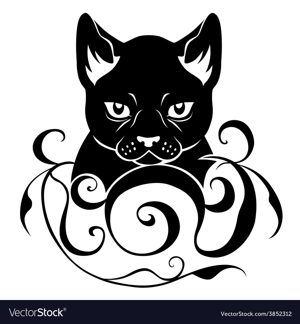 Cat face decoration vector | Price: 1 Credit (USD $1)