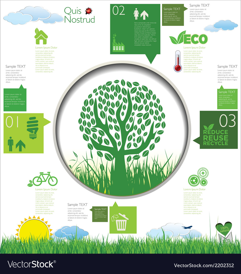Ecology infographic design vector | Price: 1 Credit (USD $1)