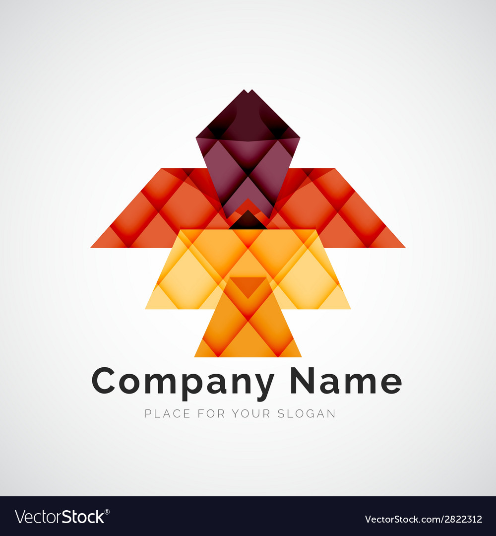 Geometric shape company logo vector | Price: 1 Credit (USD $1)