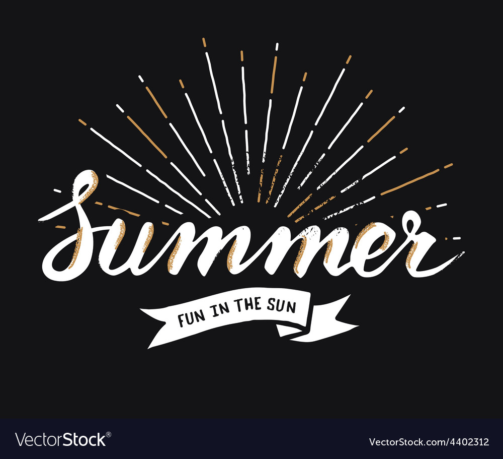 Hand drawn vintage summer design element with vector | Price: 1 Credit (USD $1)