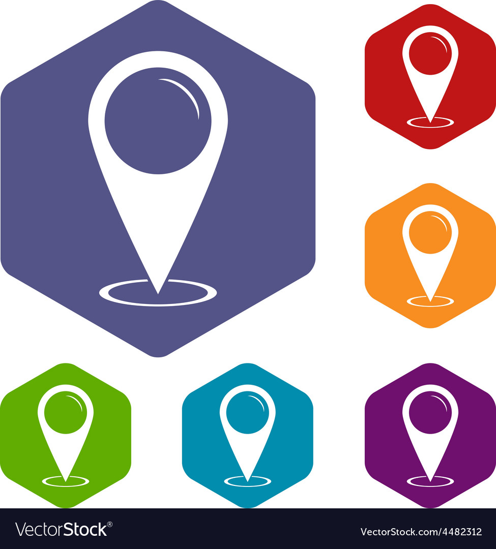 Map marker rhombus icons vector | Price: 1 Credit (USD $1)
