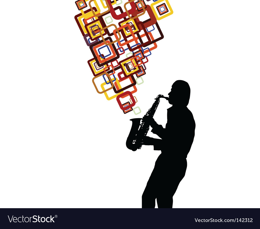 Saxophonist vector | Price: 1 Credit (USD $1)