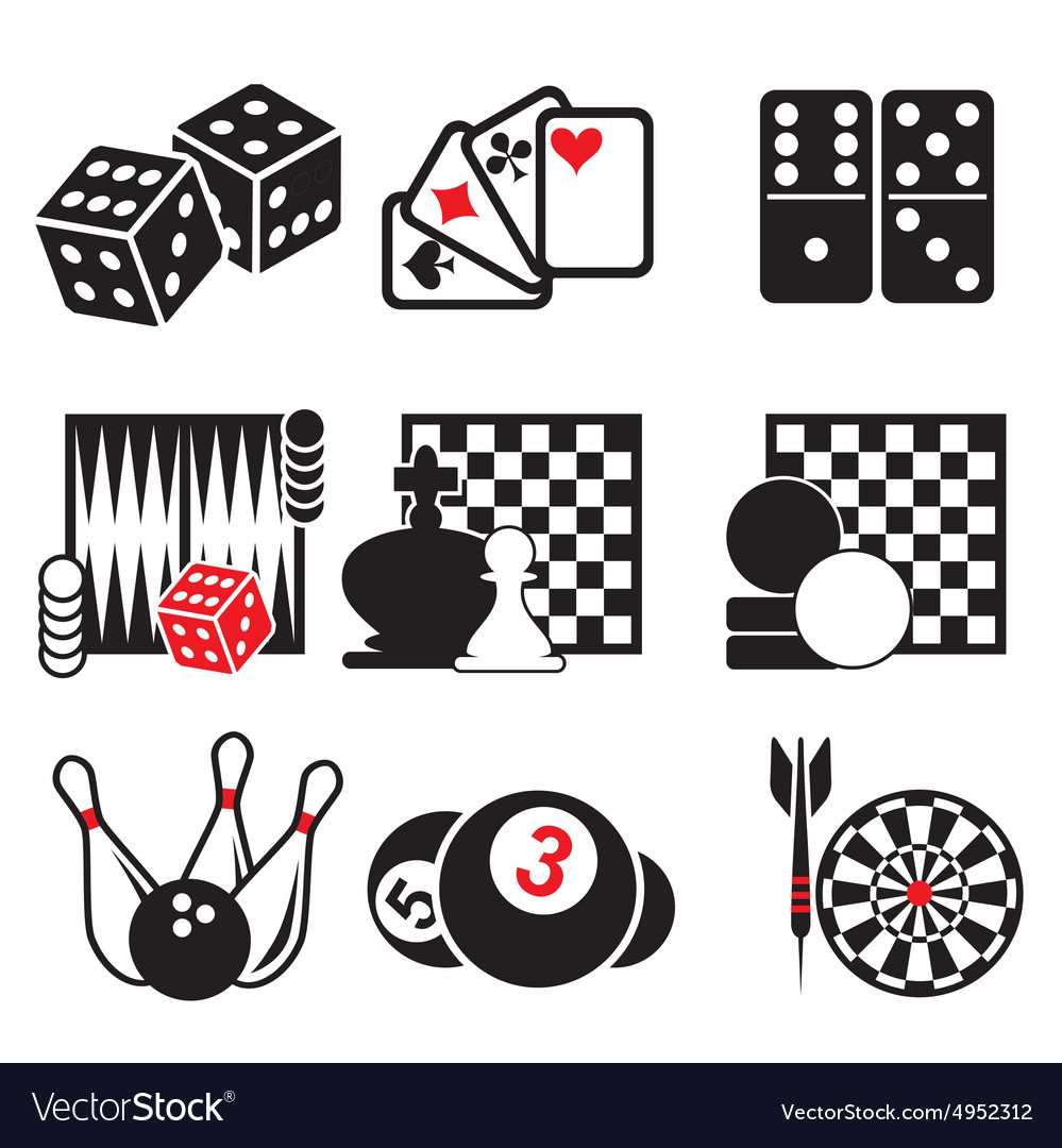 Set game icons part 1 vector