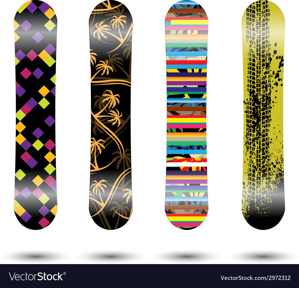 Snowboards vector | Price: 1 Credit (USD $1)