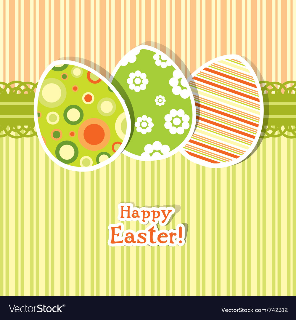 Template egg greeting card vector   Price: 1 Credit (USD $1)