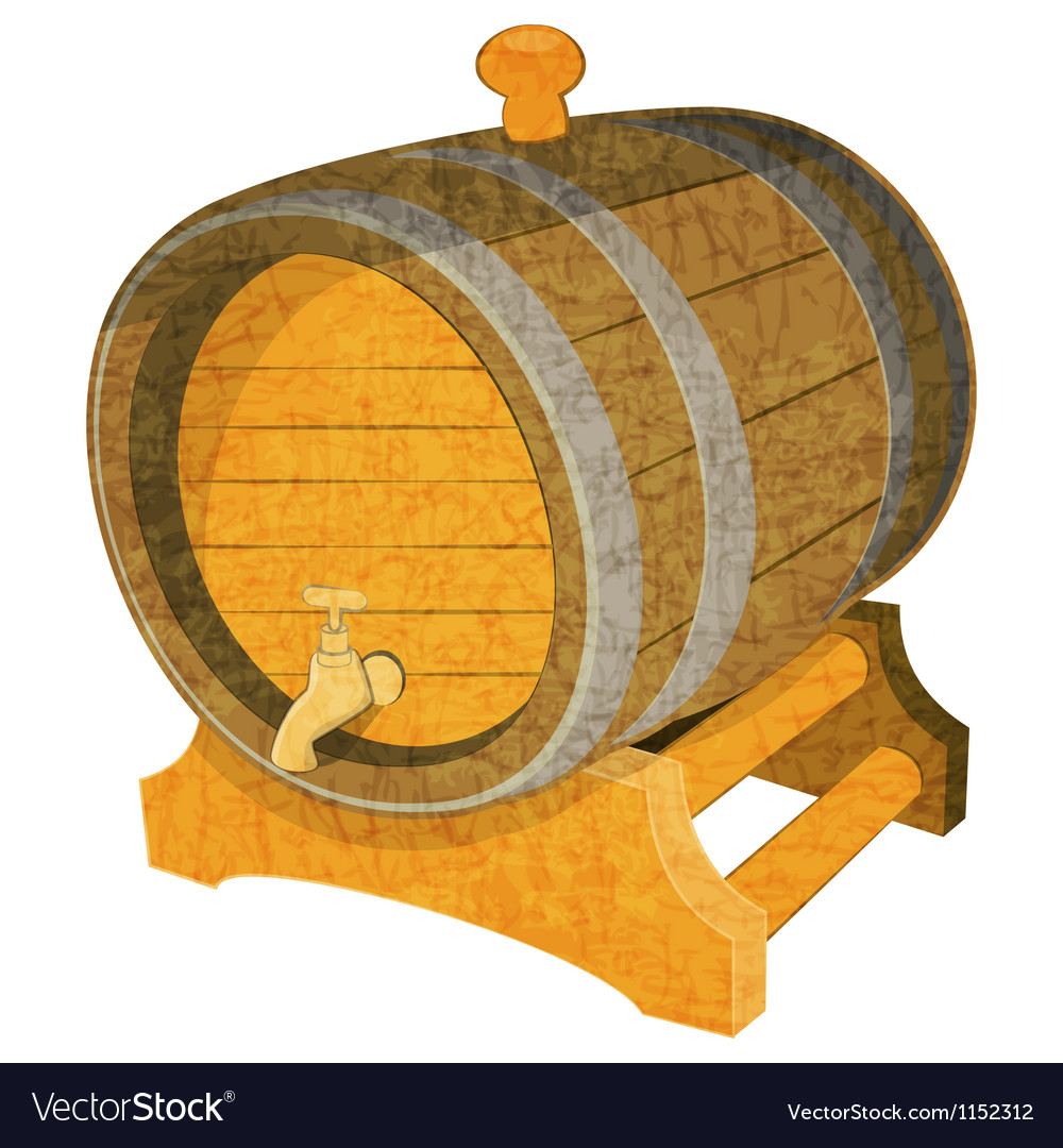 Wine cask vector | Price: 1 Credit (USD $1)