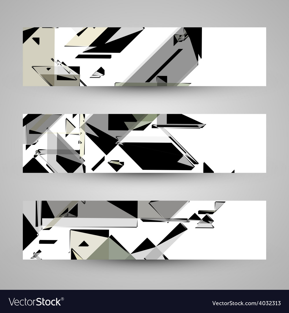 Abstract banner backgrounds vector | Price: 1 Credit (USD $1)