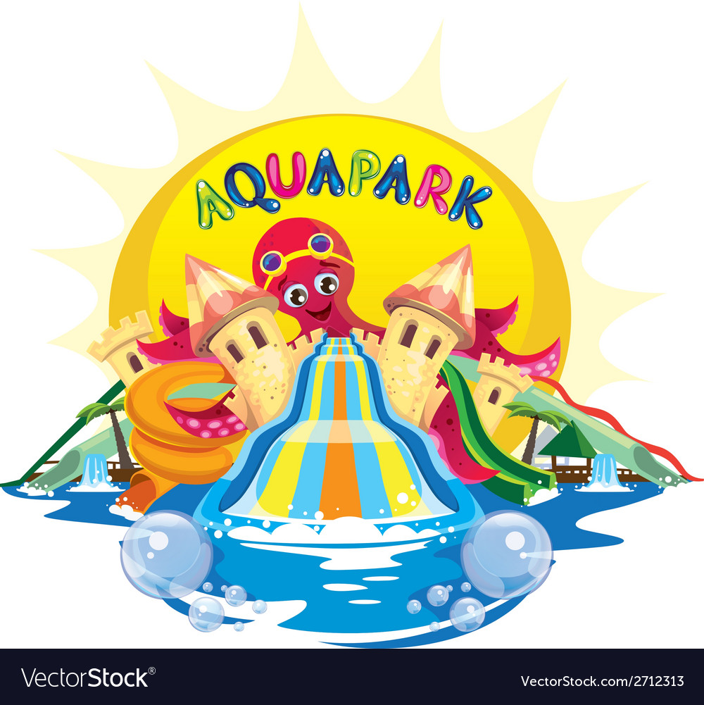 Aquapark octopus vector | Price: 3 Credit (USD $3)