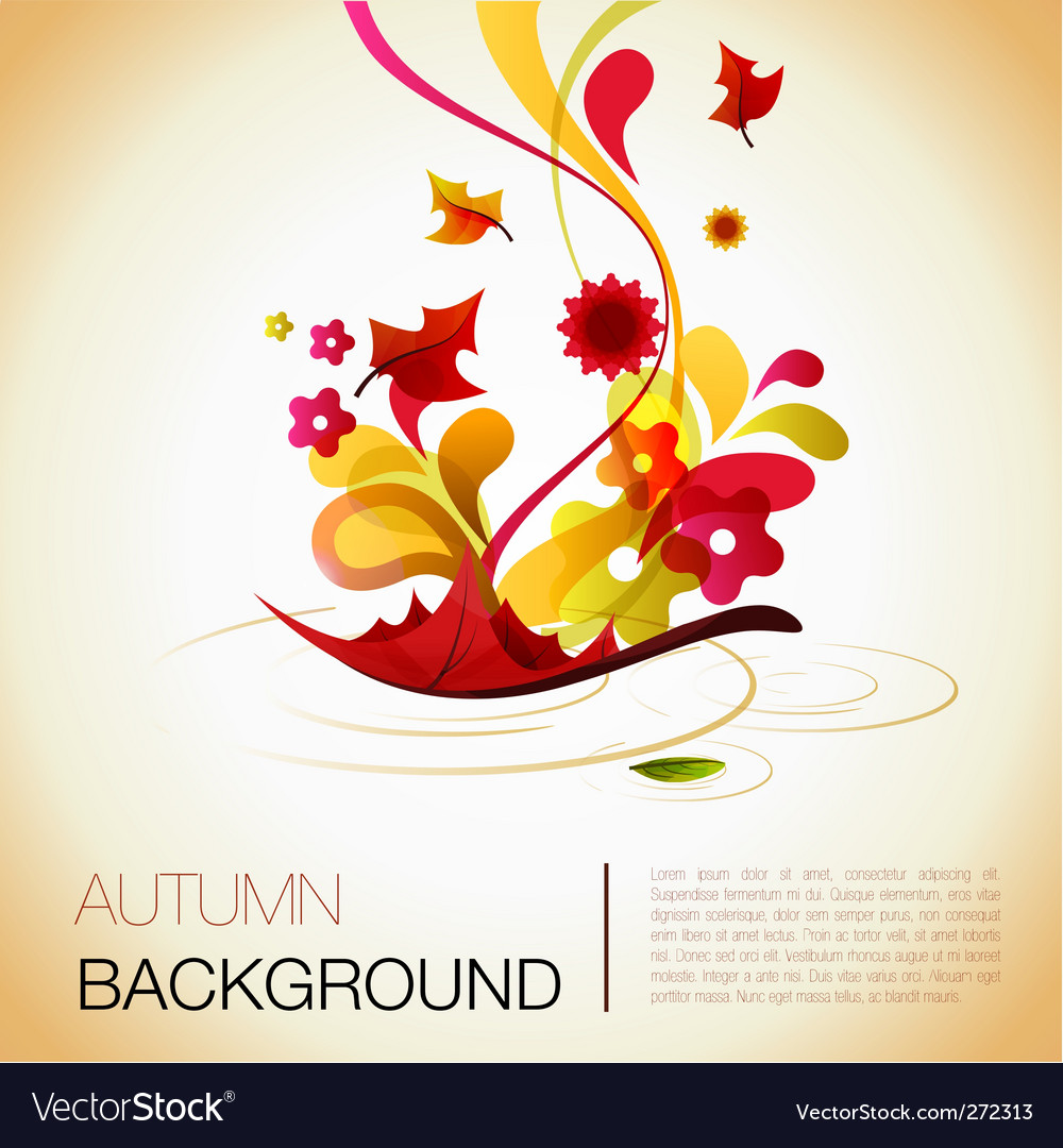 Autumn abstract vector | Price: 1 Credit (USD $1)