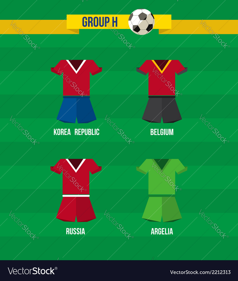 Brazil soccer championship 2014 group h team vector | Price: 1 Credit (USD $1)