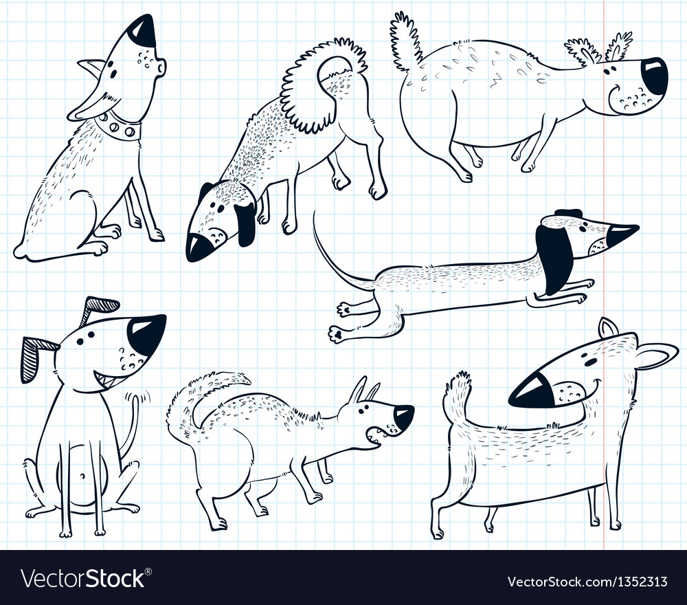 Dogs vector | Price: 1 Credit (USD $1)