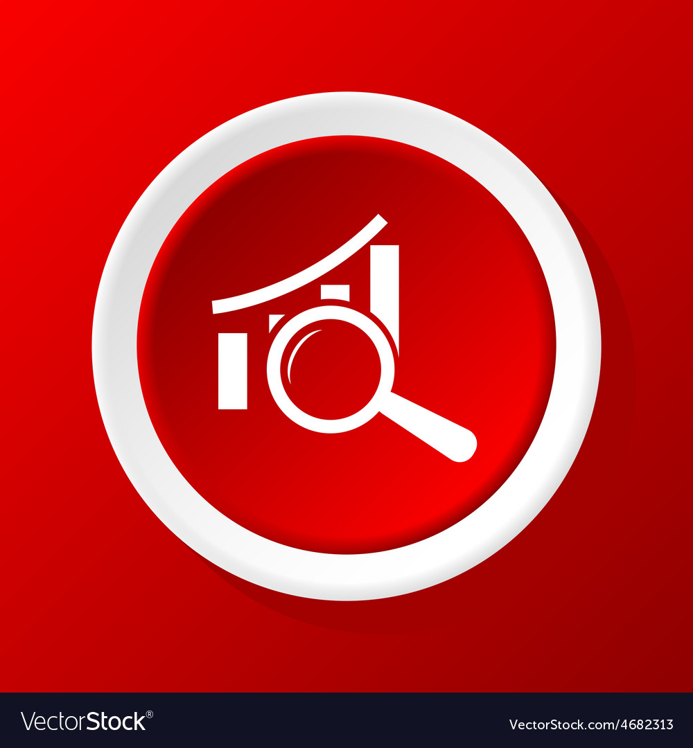 Examine graphic icon on red vector | Price: 1 Credit (USD $1)