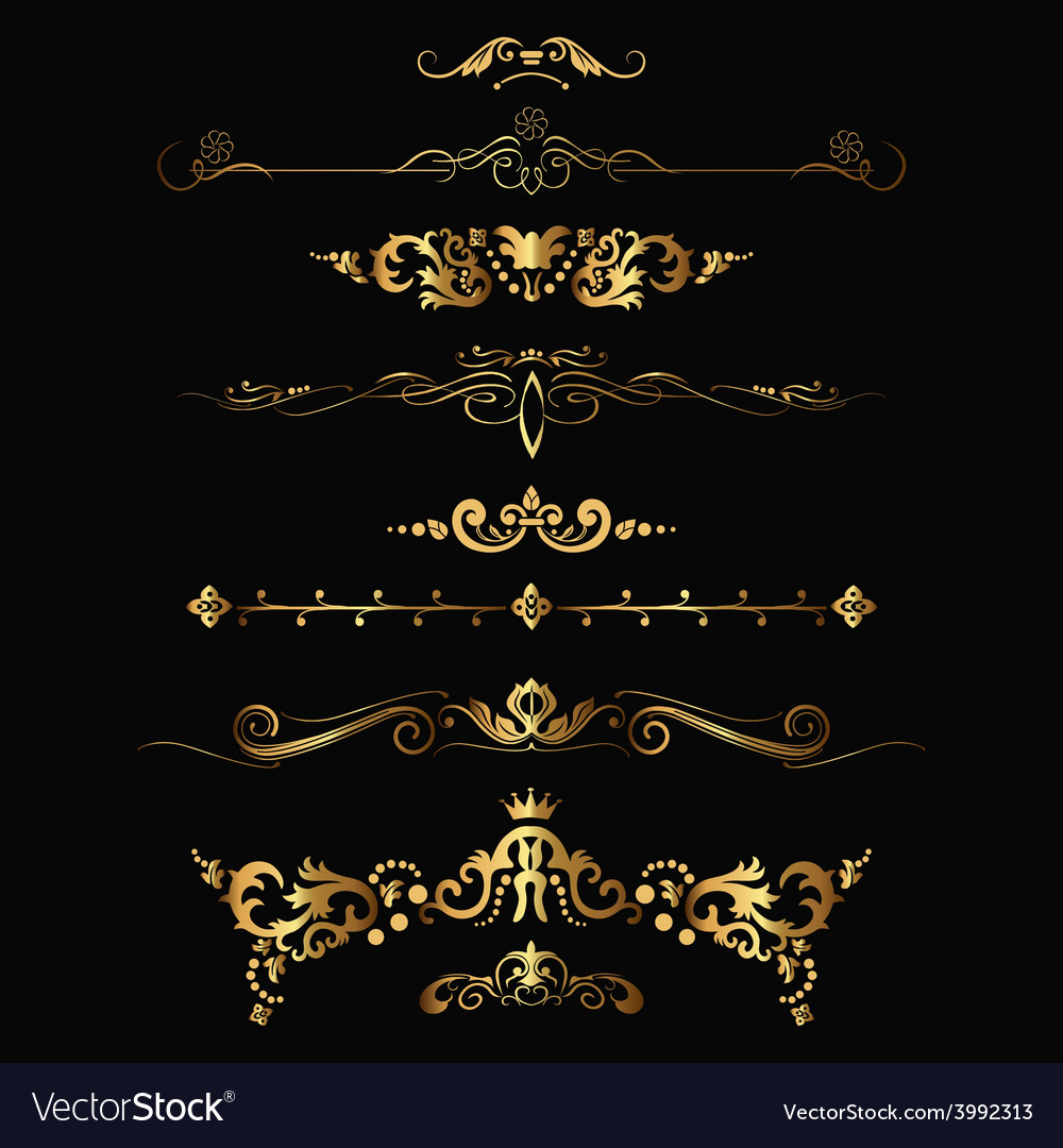 Gold patterns vector | Price: 1 Credit (USD $1)