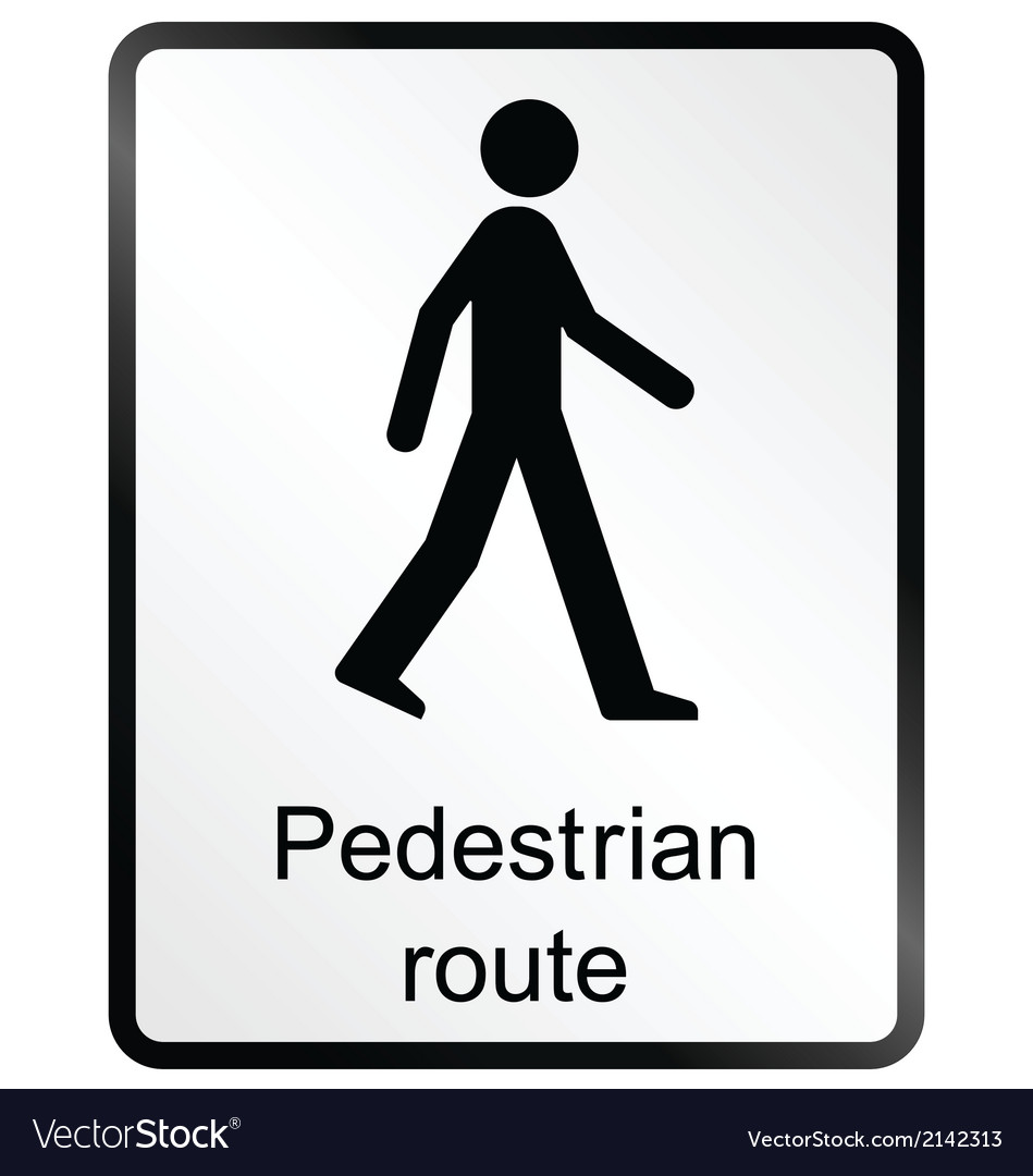 Pedestrian route information sign vector | Price: 1 Credit (USD $1)