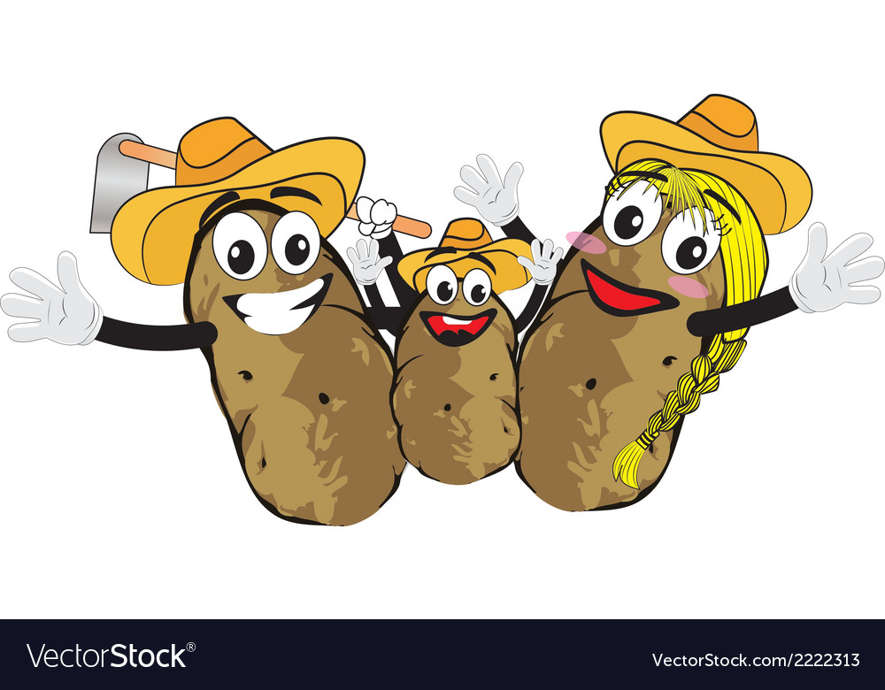 Potato family vector | Price: 1 Credit (USD $1)