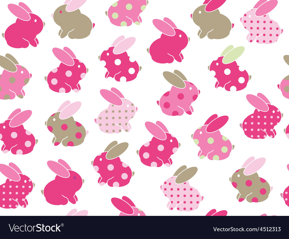 Rabbits seamless vector