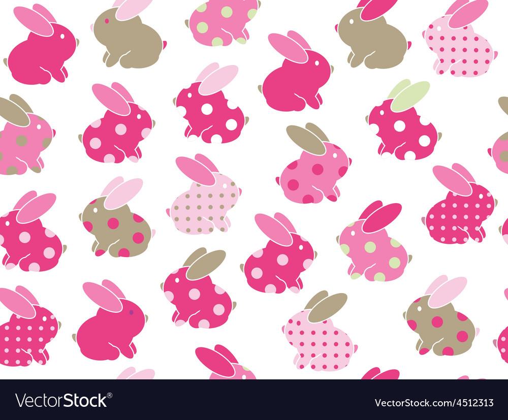 Rabbits seamless vector | Price: 1 Credit (USD $1)