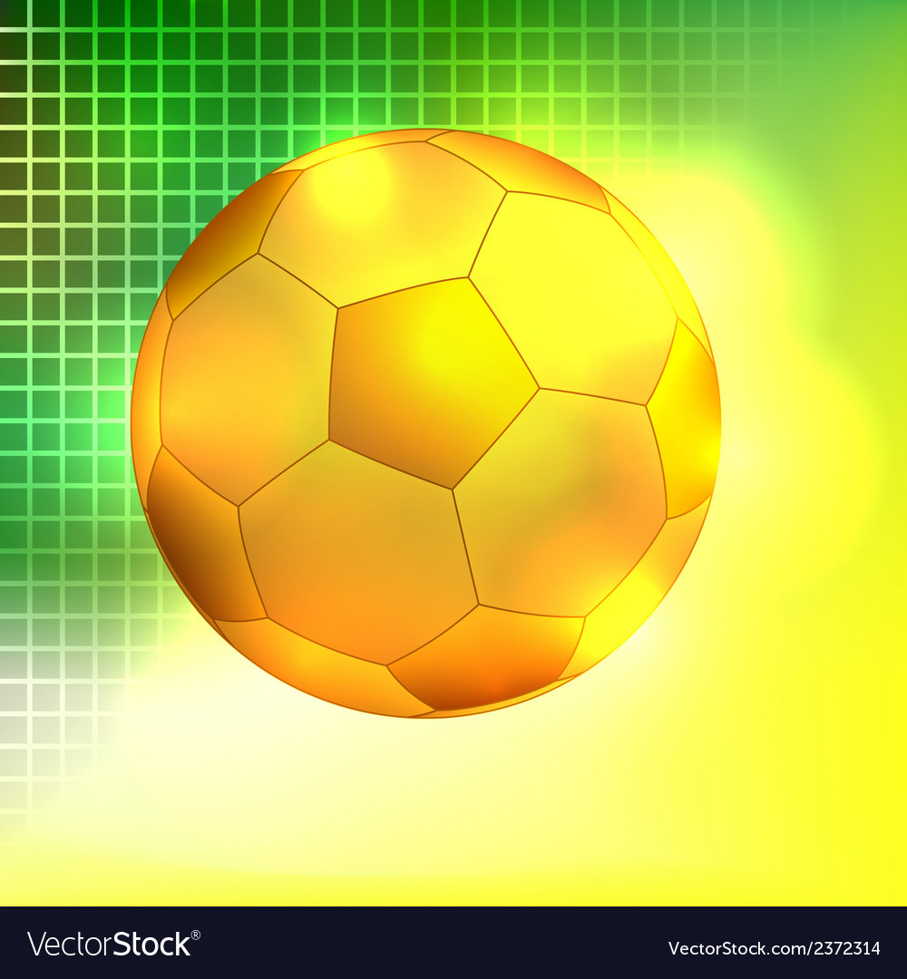 Abstract golden soccer ball background vector | Price: 1 Credit (USD $1)