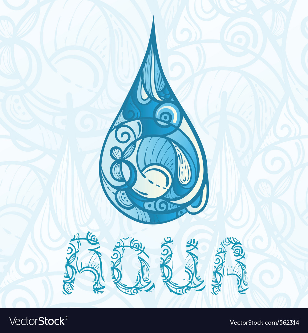 Abstract hand water dop vector | Price: 1 Credit (USD $1)