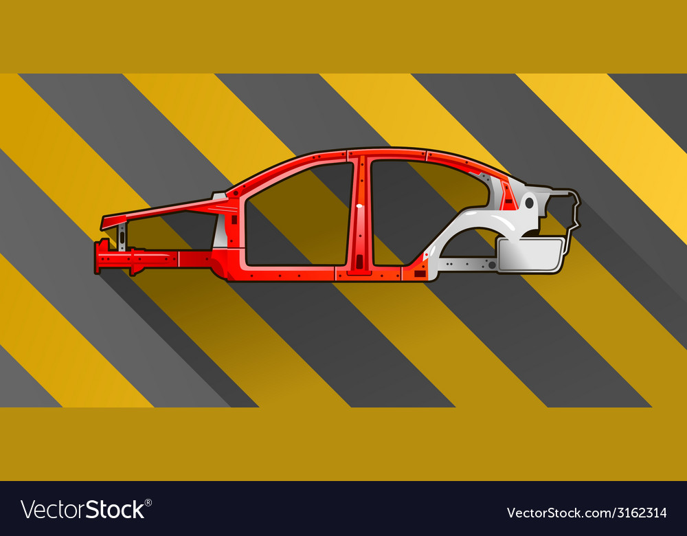 Car frame vector | Price: 1 Credit (USD $1)