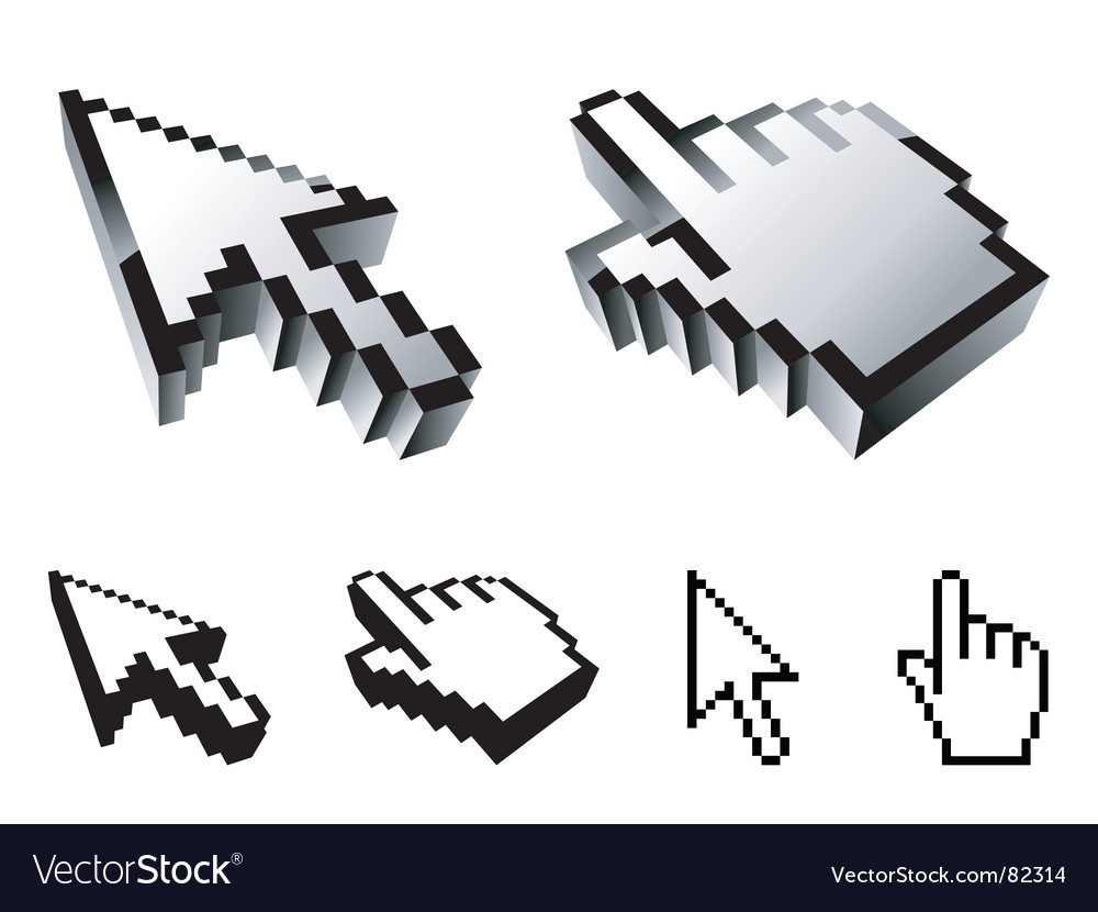 Cursor designs vector | Price: 1 Credit (USD $1)