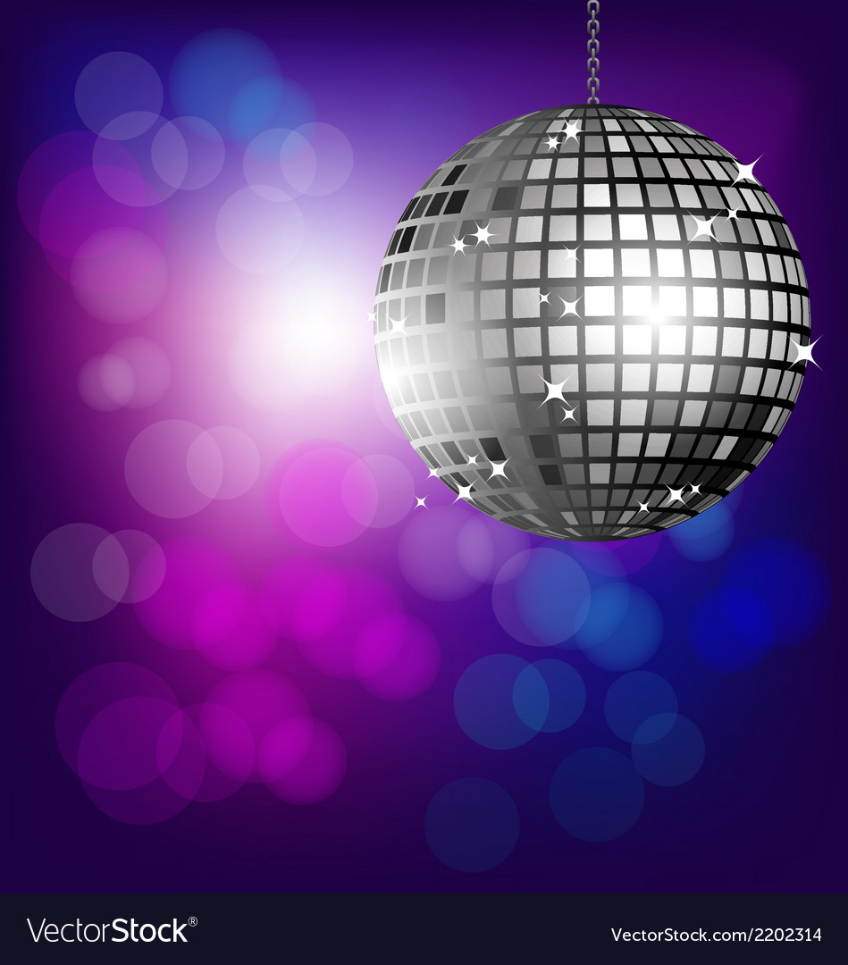 Disco ball on bokeh background vector | Price: 1 Credit (USD $1)