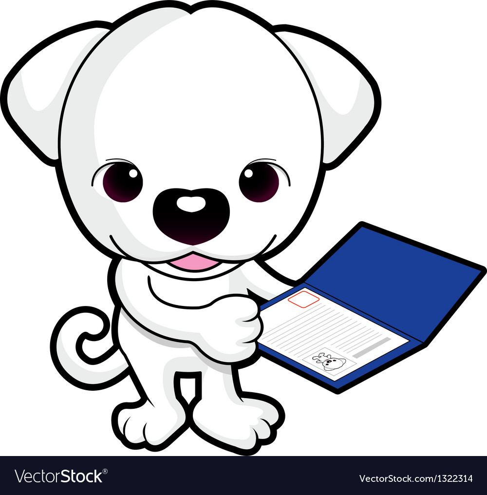 Dog mascot is holding a breed registry vector | Price: 1 Credit (USD $1)