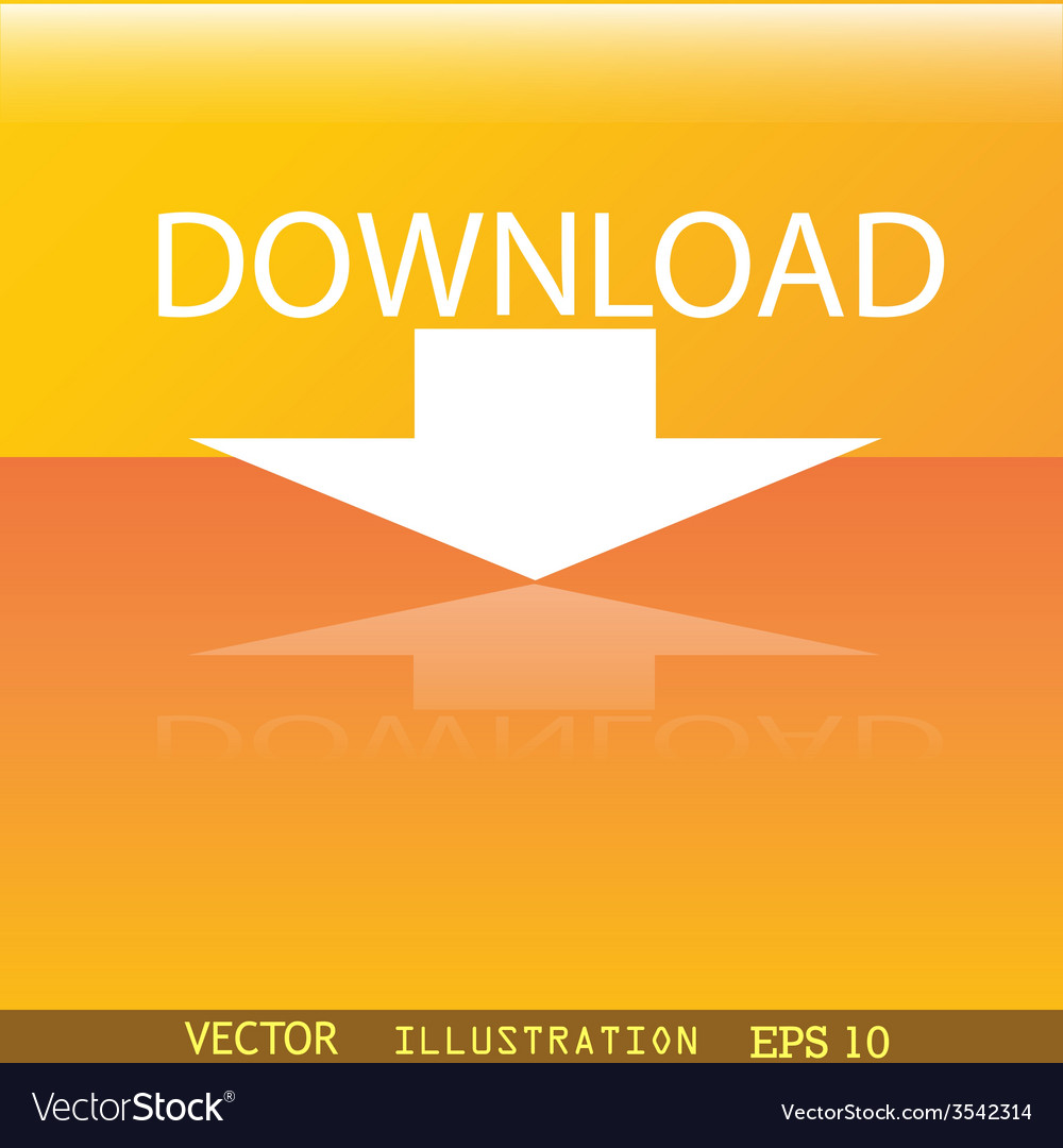 Download icon symbol flat modern web design with vector | Price: 1 Credit (USD $1)