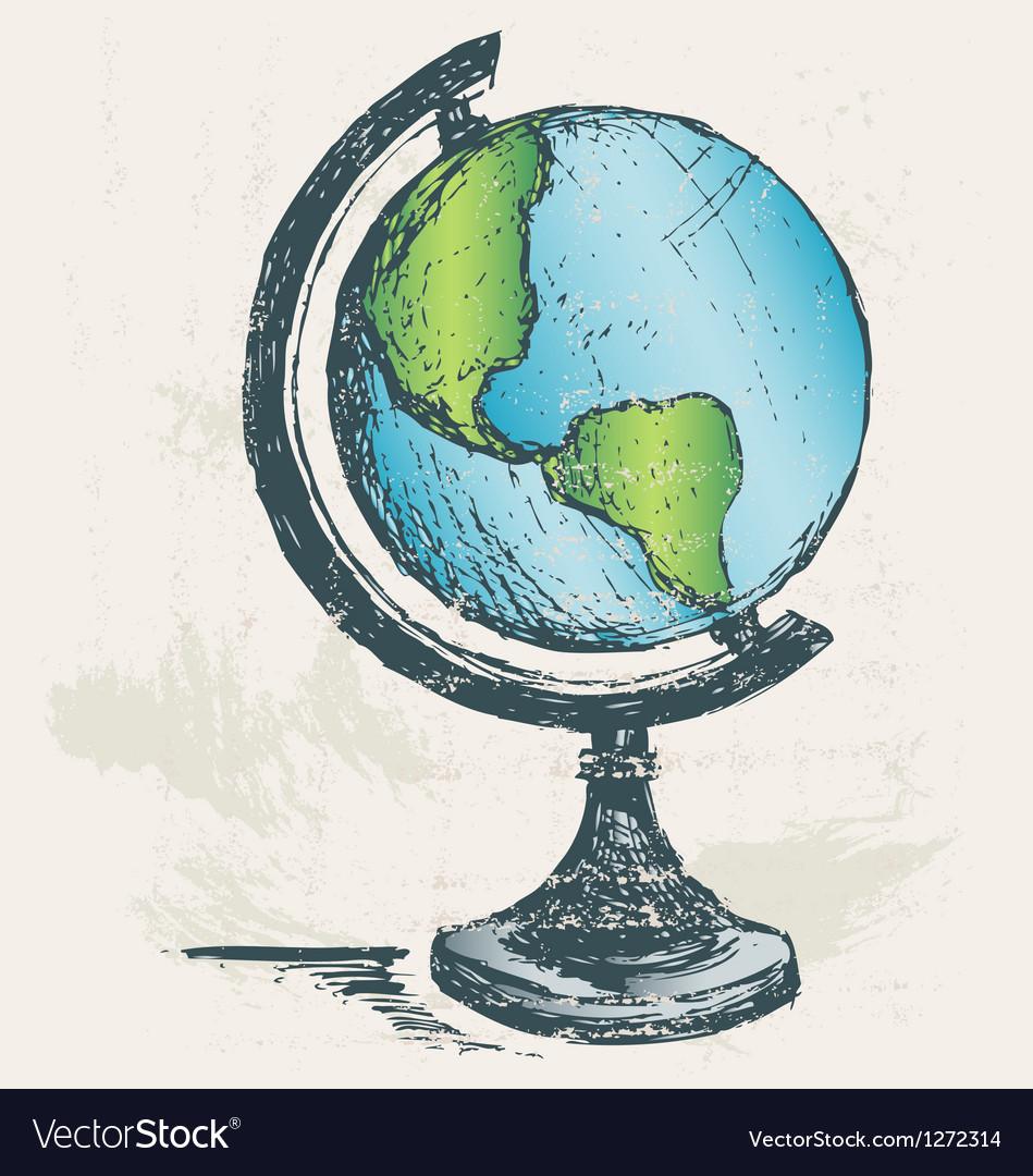 Globe sketch vector | Price: 1 Credit (USD $1)