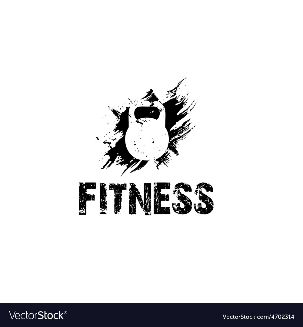Grunge kettlebell design template vector | Price: 1 Credit (USD $1)