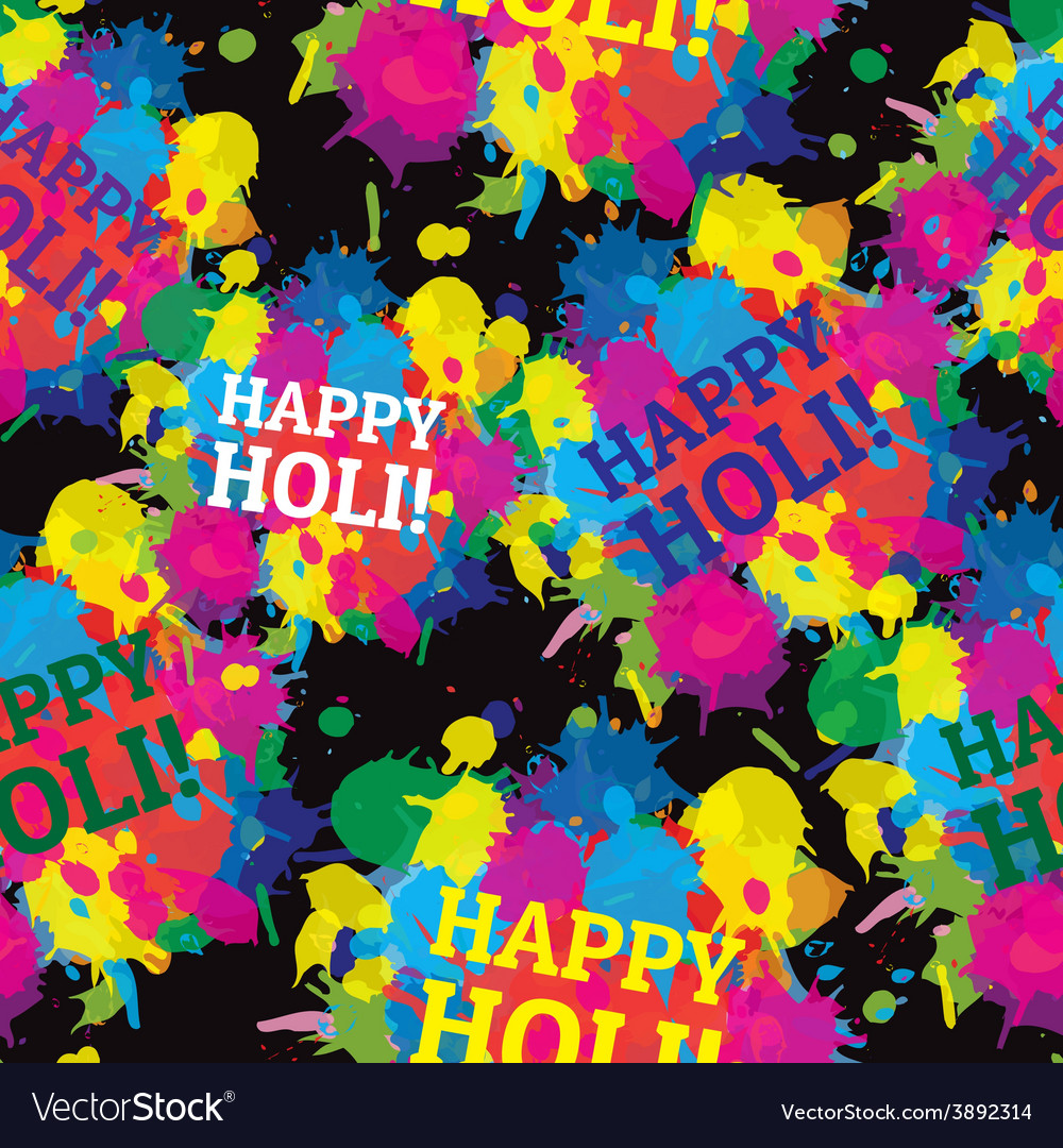Indian festival seamless pattern colors splash vector | Price: 1 Credit (USD $1)