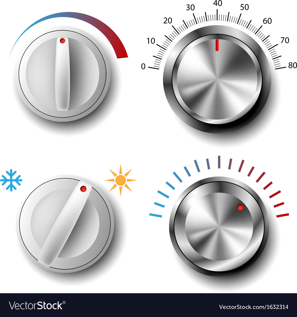 Knob set vector | Price: 1 Credit (USD $1)