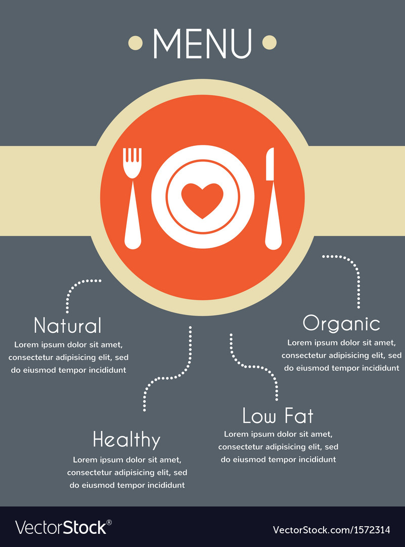 Menu template for helthy restaurant infographics vector | Price: 1 Credit (USD $1)