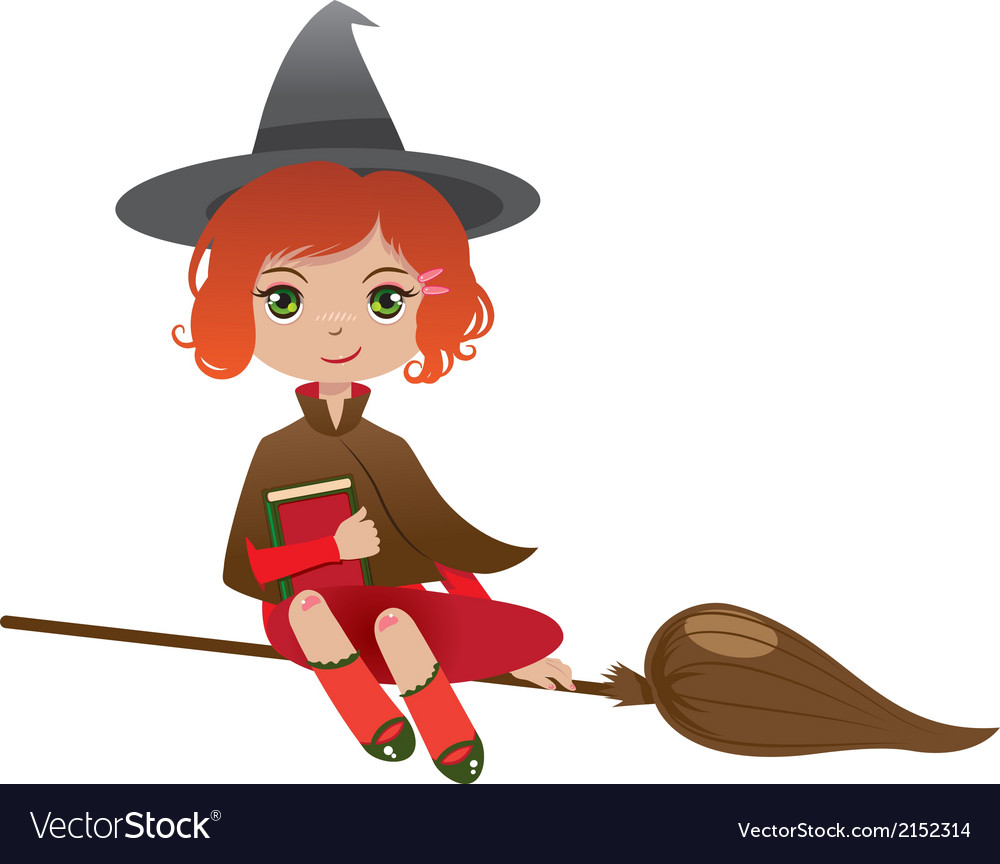 Redhair witch vector | Price: 1 Credit (USD $1)