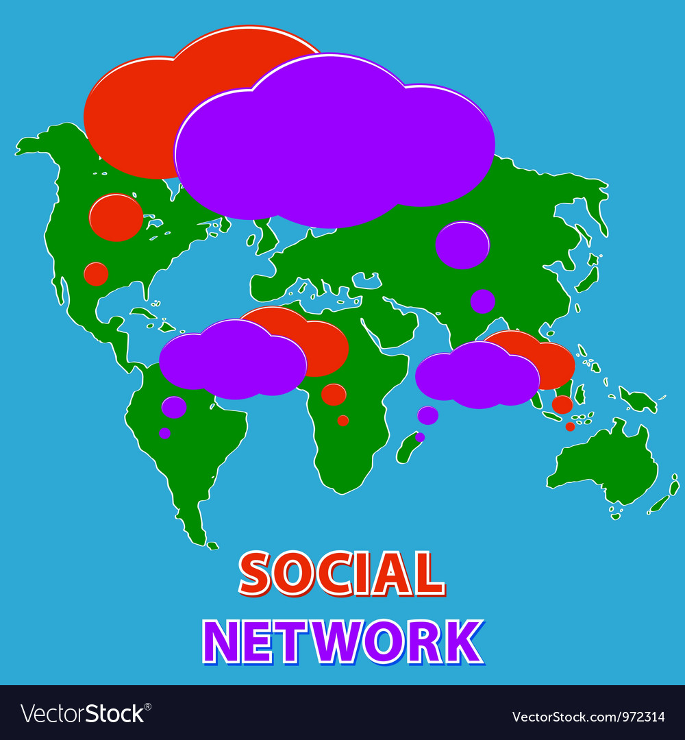 Social media network vector | Price: 1 Credit (USD $1)