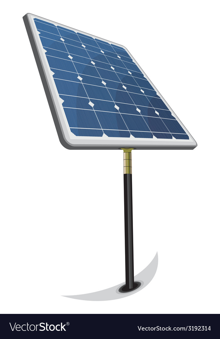 Solarni paneli perspektiva jedan koso resize vector | Price: 1 Credit (USD $1)